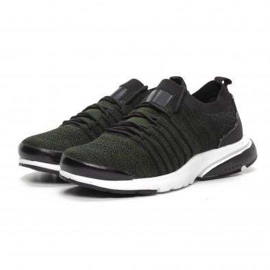Ανδρικά πράσινα αθλητικά παπούτσια καλτσάκι ελαφρύ μοντέλο it240419-24 3