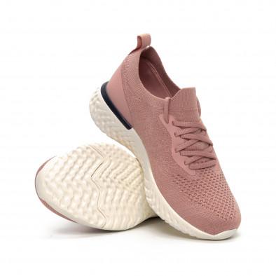 Γυναικεία ροζ αθλητικά παπούτσια καλτσάκι ελαφρύ μοντέλο it240419-54 4