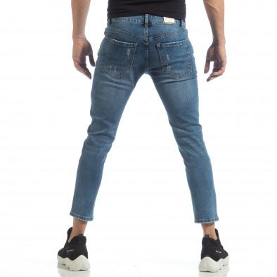 Ανδρικό γαλάζιο τζιν με μπαλώματα it040219-5 4