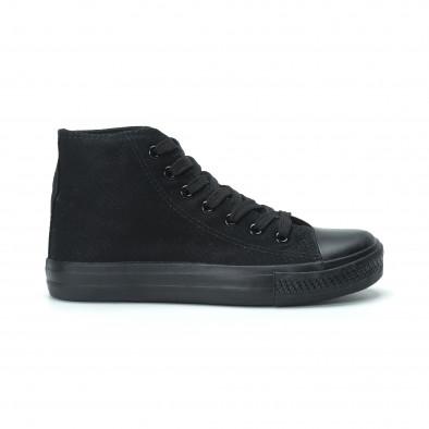 Γυναικεία μαύρα ψηλά sneakers  it250119-80 2