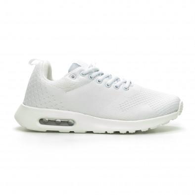 Ανδρικά λευκά πλεκτά αθλητικά παπούτσια με αερόσολα it100519-6 2