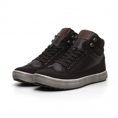 Ανδρικά καφέ ψηλά sneakers  it260919-44 3