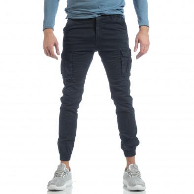 Ανδρικό μπλε cargo Jogger παντελόνι it040219-38 2