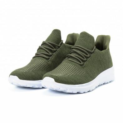 Ανδρικά πράσινα αθλητικά παπούτσια ελαφρύ μοντέλο it140918-17 3