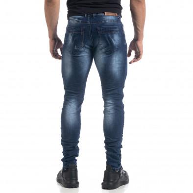Ανδρικό μπλε τζιν με εφέ Fashion Slim fit it071119-14 3