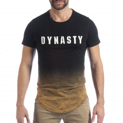 Ανδρική μαύρη κοντομάνικη μπλούζα Dynasty it040219-120 3