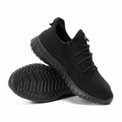 Ανδρικά μαύρα αθλητικά παπούτσια All black ελαφρύ μοντέλο it140918-10 4