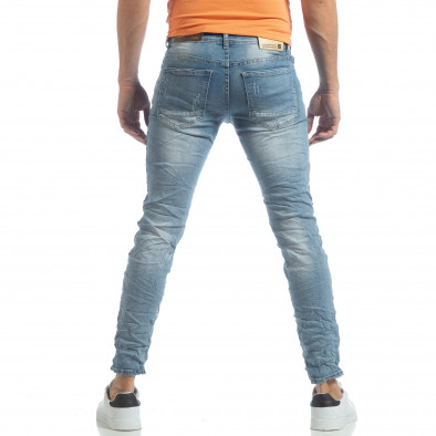 Ανδρικό γαλάζιο τζιν Slim fit it040219-12 4