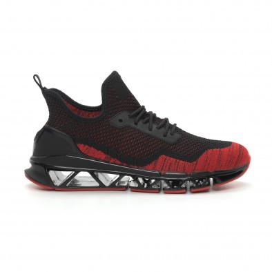 Ανδρικά κόκκινα αθλητικά παπούτσια Knife ελαφρύ μοντέλο it150319-25 3