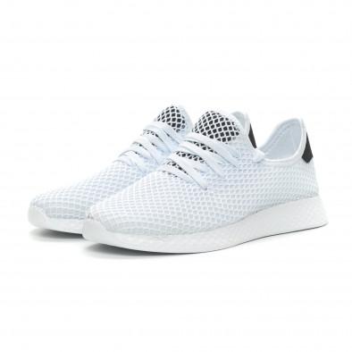 Ανδρικά λευκά αθλητικά παπούτσια Mesh ελαφρύ μοντέλο it150319-22 3