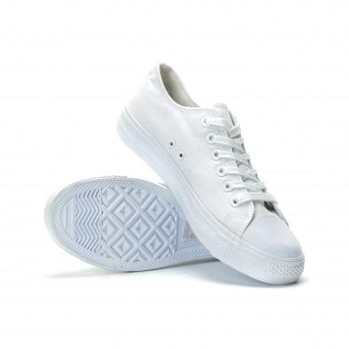 Ανδρικά λευκά sneakers κλασικό μοντέλο it250119-11 4