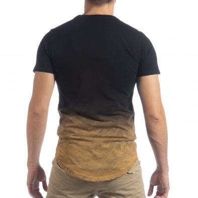 Ανδρική μαύρη κοντομάνικη μπλούζα Dynasty it040219-120 4