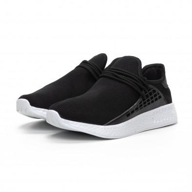 Ανδρικά μαύρα αθλητικά παπούτσια ελαφρύ μοντέλο it240419-6 3