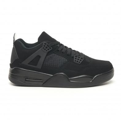 Ανδρικά sneakers ελαφρύ μοντέλο με αερόσολα All black it251019-24 2