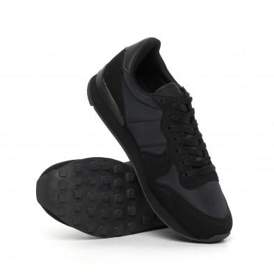 Ανδρικά μαύρα αθλητικά παπούτσια ελαφρύ μοντέλο  it130819-13 4