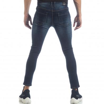 Ανδρικό μπλε κλασικό τζιν Skinny Jeans it040219-8 3
