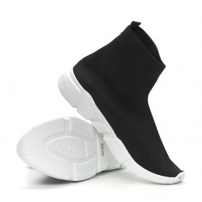 Ανδρικά μαύρα αθλητικά παπούτσια Slip-on  it150319-13 4