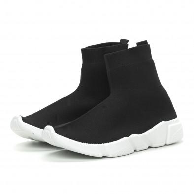 Ανδρικά μαύρα αθλητικά παπούτσια Slip-on  it150319-13 3