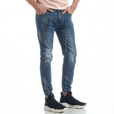 Ανδρικό γαλάζιο τζιν Jogger Jeans it040219-3 2