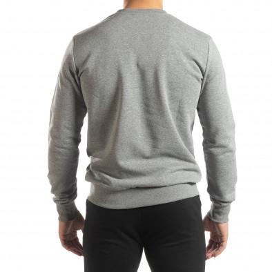 Ανδρική γκρι βαμβακερή μπλούζα Basic it150419-45 4