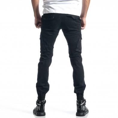 Ανδρικό μαύρο παντελόνι cargo Jogger it010221-43 3