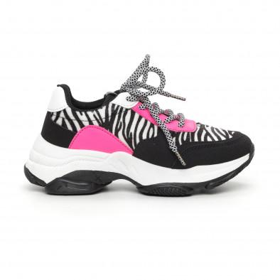 Γυναικεία αθλητικά παπούτσια με ζέβρα μοτίβο it130819-75 2