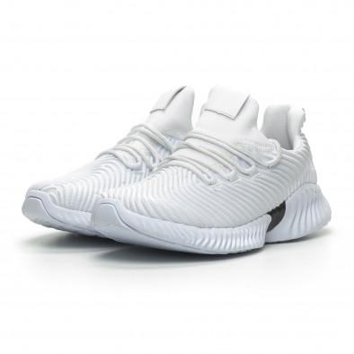 Ανδρικά λευκά αθλητικά παπούτσια Wave ελαφρύ μοντέλο it100519-3 3