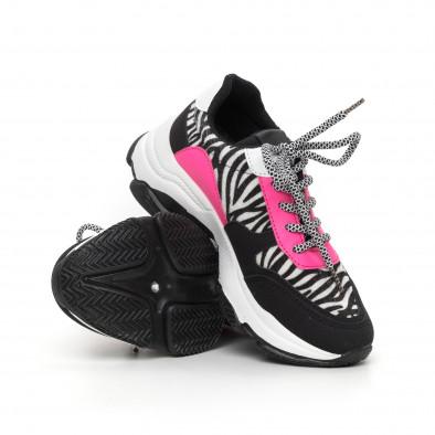 Γυναικεία αθλητικά παπούτσια με ζέβρα μοτίβο it130819-75 4