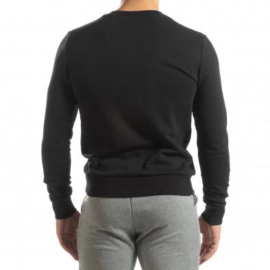 Ανδρική μαύρη βαμβακερή μπλούζα Basic it150419-48 4