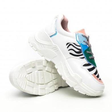 Γυναικεία πολύχρωμα Chunky αθλητικά παπούτσια με ζέβρα μοτίβο it281019-4 4