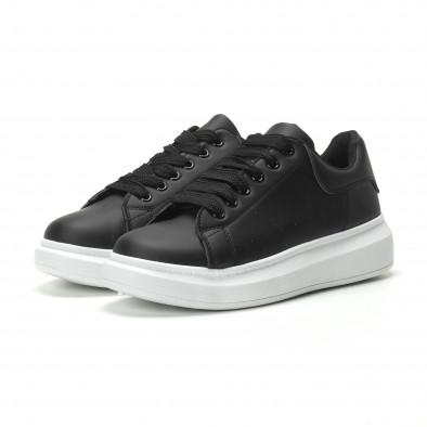 Ανδρικά μαύρα sneakers με χοντρή σόλα it250119-31 3