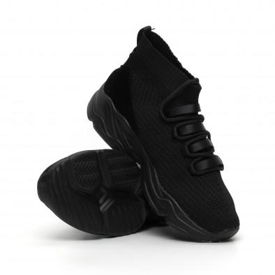 Ανδρικά αθλητικά παπούτσια τύπου κάλτσα All Black it260919-23 4
