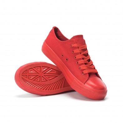 Γυναικεία κόκκινα sneakers it250119-74 4