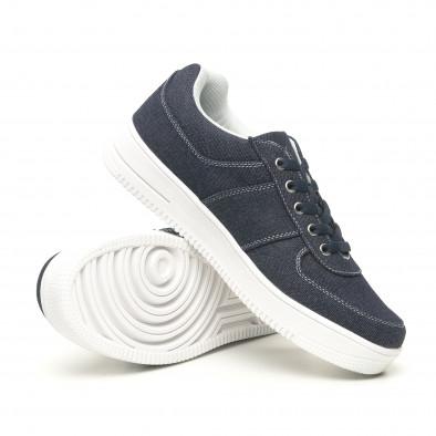 Ανδρικά ντένιμ  sneakers ελαφρύ μοντέλο it251019-2 5