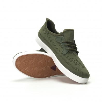 Ανδρικά χακί sneakers ελαφρύ μοντέλο it250119-15 4