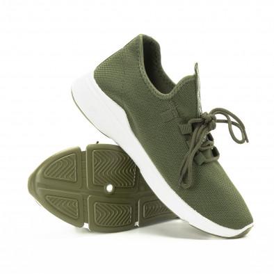 Πλεκτά ανδρικά πράσινα αθλητικά παπούτσια  it221018-37 4