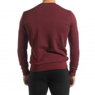 Ανδρική μπορντό βαμβακερή μπλούζα Basic it150419-46 4
