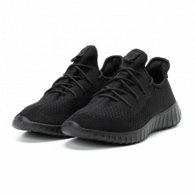 Ανδρικά μαύρα αθλητικά παπούτσια All black ελαφρύ μοντέλο it140918-10 3