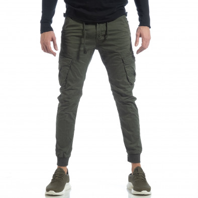 Ανδρικό πράσινο Cargo Jogger παντελόνι it040219-28 3