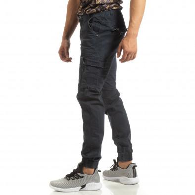 Ανδρικό μπλε παντελόνι Cargo Jogger it090519-10 2