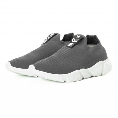 Ανδρικά γκρι αθλητικά παπούτσια Slip-on it221018-33 3