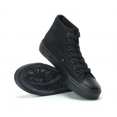 Γυναικεία μαύρα ψηλά sneakers  it250119-80 4