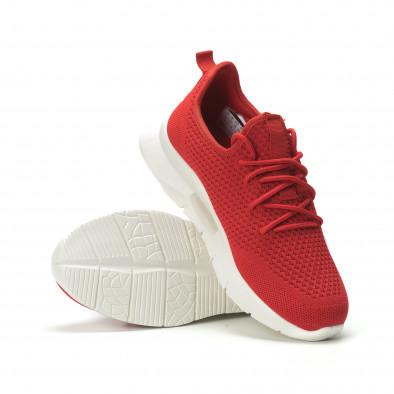 Ανδρικά κόκκινα αθλητικά παπούτσια Hole design ελαφρύ μοντέλο it250119-21 4