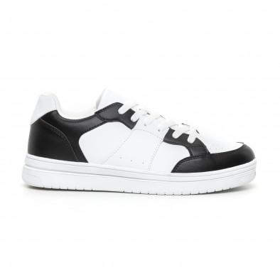 Ανδρικά skate sneakers σε λευκό και μαύρο it130819-7 2