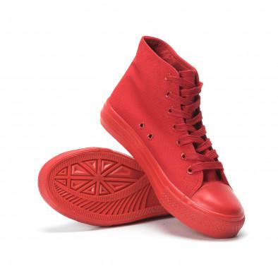 Γυναικεία κόκκινα ψηλά sneakers it250119-78 4