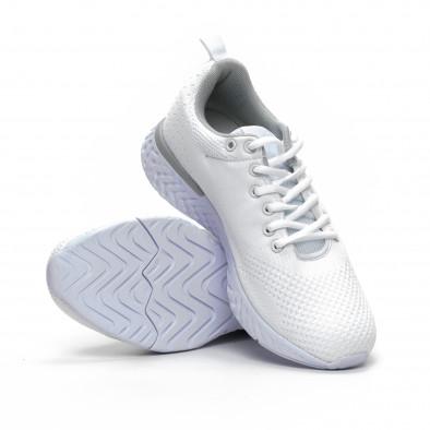 Ανδρικά λευκά πλεκτά αθλητικά παπούτσια  it240419-13 4