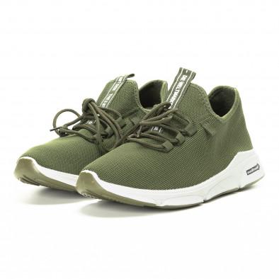 Πλεκτά ανδρικά πράσινα αθλητικά παπούτσια  it221018-37 3