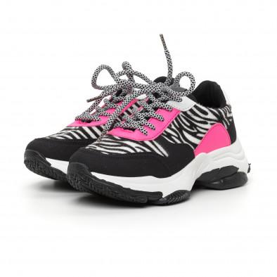 Γυναικεία αθλητικά παπούτσια με ζέβρα μοτίβο it130819-75 3