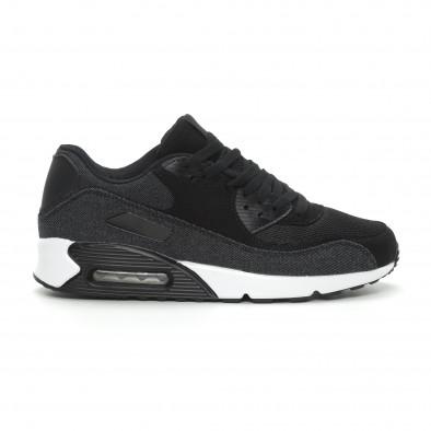Ανδρικά μαύρα denim αθλητικά παπούτσια Air it150319-20 2