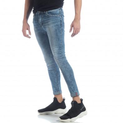 Ανδρικό γαλάζιο τζιν Skinny Washed Jeans it040219-7 2